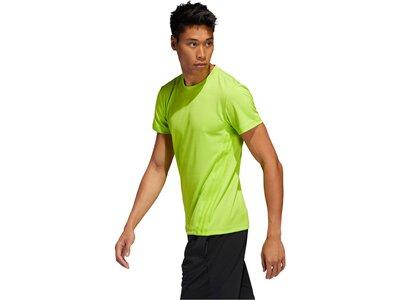 "ADIDAS Herren T-Shirt ""Aero 3 S Tee"" Grün"