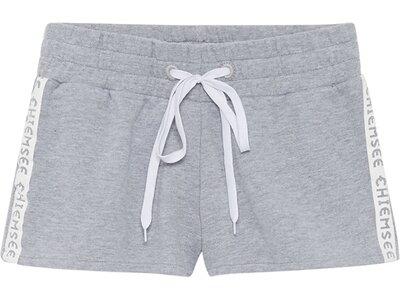 CHIEMSEE Sweatshorts einfabrig mit kontrastierendem Schnürband Grau