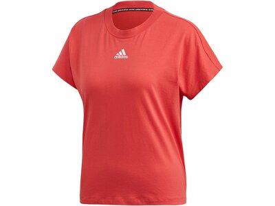 "ADIDAS Damen T-Shirt ""3-Stripes"" Rot"