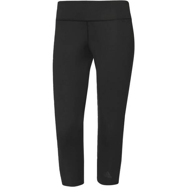 ADIDAS Damen Trainingshose / Fitnesshose D2M Three-Quarter 3-Streifen Tight