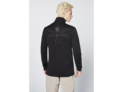 CHIEMSEE Fleece Pullover unifarben Schwarz