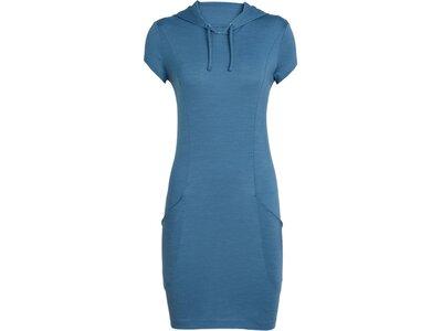 "ICEBREAKER Damen Outdoor-Kleid ""Womens Cool-Lite Yanni Hooded Dress Short Sleeve"" Blau"
