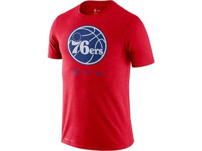 """NIKE Herren T-Shirt """"NBA 76er Logo"""" Rot"""