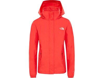 THENORTHFACE Damen Regenjacke W Resolve Jacket Rot