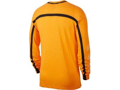 "NIKE Herren Trainingsshirt ""Dri-FIT"" Langarm Orange"