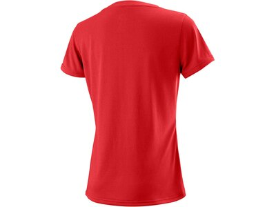 WILSON Damen Tennisshirt UWII Script Tech Tee Kurzarm Rot