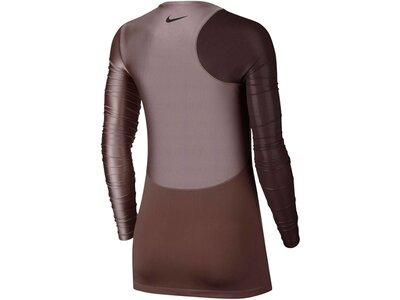 "NIKE Damen Trainingsshirt ""Pro HyperCool"" Langarm Rot"