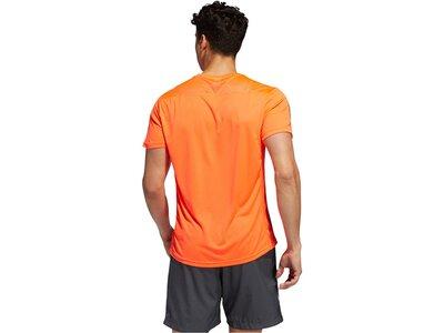 "ADIDAS Herren Laufshirt ""Own The Run Tee"" Kurzarm Orange"
