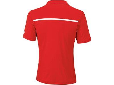 """WILSON Herren Tennis Poloshirt """"Team"""" Kurzarm Rot"""