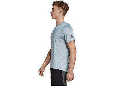 ADIDAS Herren Trainingsshirt Freelift_360 Gradient Graphic Tee Silber