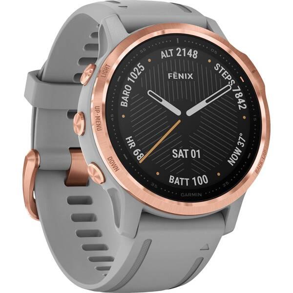 "GARMIN GPS-Multifunktionsuhr ""Fenix 6S Sapphire"" Grau/Rosegold"