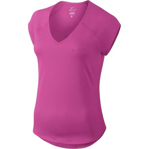 NIKE Damen Tennisshirt Pure Kurzarm | Sportbekleidung > Sportshirts > Tennisshirts | Fuchsia | Nike
