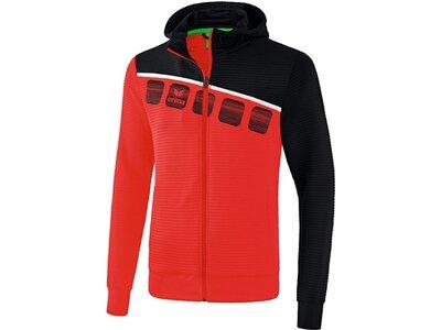 ERIMA Fußball - Teamsport Textil - Jacken 5-C Trainingsjacke mit Kapuze Kids Rot