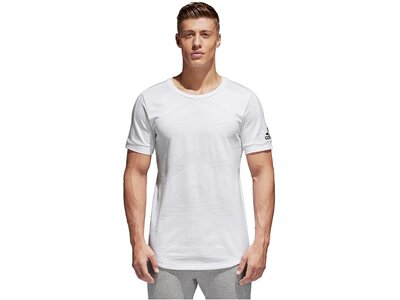 ADIDAS Herren Trainingsshirt Chevron Weiß