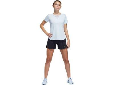 "ADIDAS Damen Trainingsshirt ""3-Stripes Heat.Rdy"" Kurzarm Weiß"