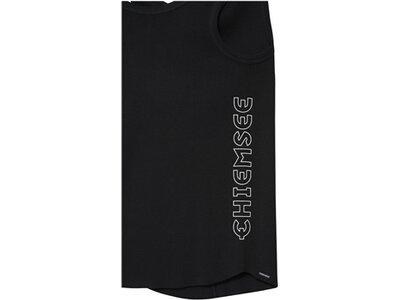 CHIEMSEE Top einfarbig mit Rippstruktur Schwarz