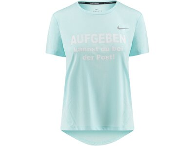 "NIKE Damen Laufshirt ""Miler"" Kurzarm Blau"