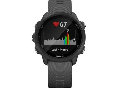 """GARMIN GPS-Laufuhr """"Forerunner 245"""" graues Armband Schwarz"""