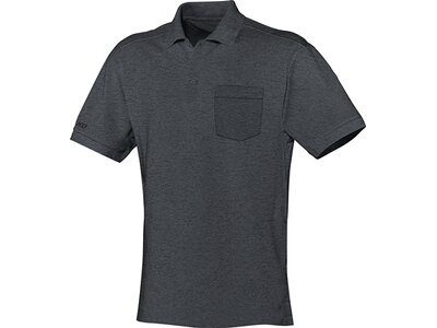 JAKO Herren Polo Team mit Brusttasche Grau