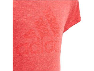 ADIDAS Mädchen T-Shirt Kurzarm Rot
