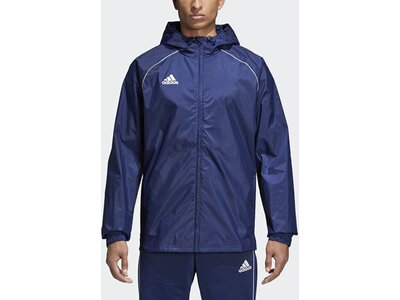 ADIDAS Fußball - Teamsport Textil - Allwetterjacken Core 18 Rain Jacket Jacke Dunkel Blau