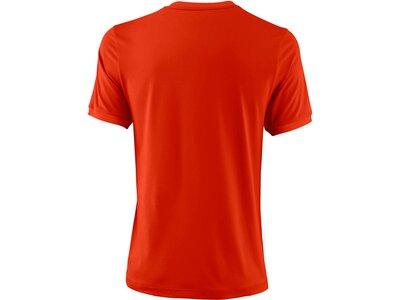 """WILSON Herren Tennisshirt """"UWII Henley"""" Kurzarm Rot"""