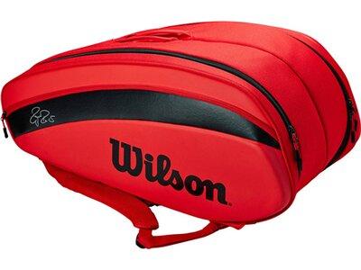 """WILSON Tennistasche """"RF DNA 12PK"""" Rot"""