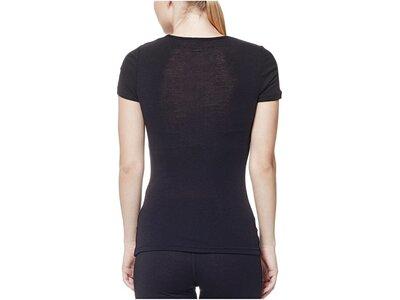 ICEBREAKER Merino Damen Funktionsshirt / Unterhemd Oasis S/S Crewe Schwarz