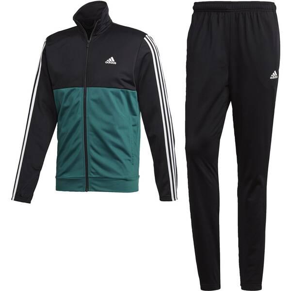 ADIDAS Herren Back 2 Basics 3-Streifen Trainingsanzug | Sportbekleidung > Sportanzüge | Black - White | Trikot | Adidas