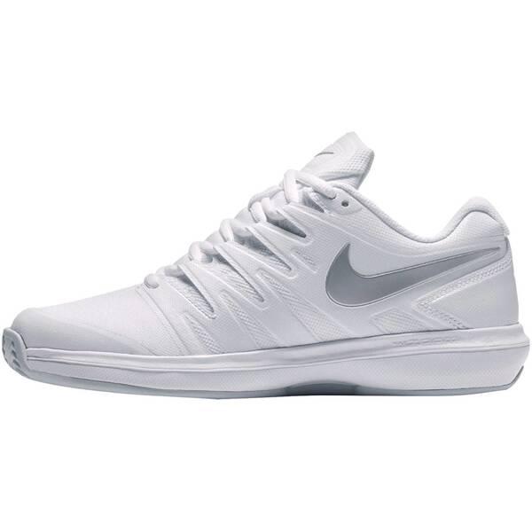 NIKE Damen Tennisschuhe Outdoor Air Zoom Prestige | Schuhe > Sportschuhe > Tennisschuhe | White - Metallic - Silver | Gummi | Nike