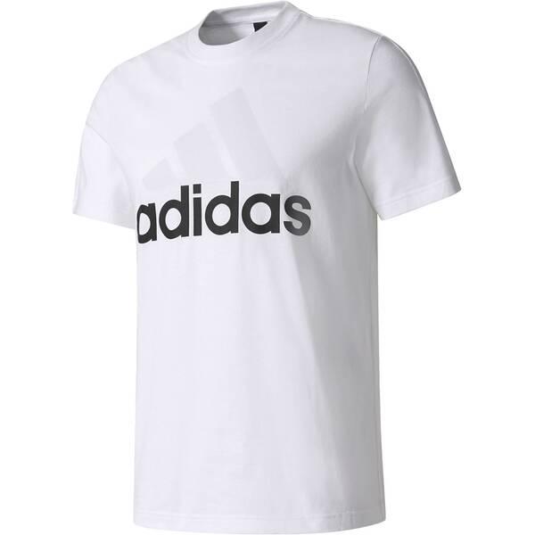 ADIDAS Herren Trainingsshirt / T-Shirt Essentials Linear Tee | Sportbekleidung > Sportshirts > Funktionsshirts | White | Baumwolle | ADIDAS