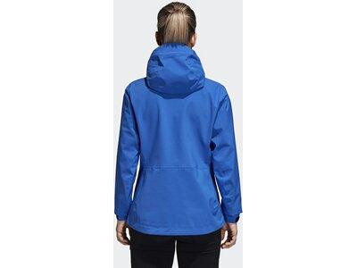 ADIDAS Damen Parley Three-Layer Jacke Blau