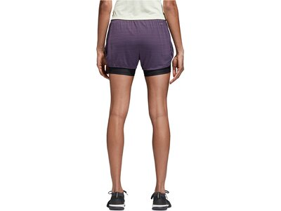 "ADIDAS Damen Trainingsshorts ""Two-in-One Chill Shorts"" Lila"