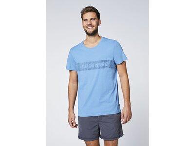 CHIEMSEE T-Shirt mit plakativen Markenschriftzug Blau