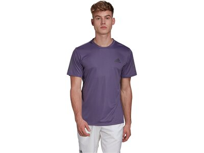 "ADIDAS Herren Tennisshirt ""Club 3 Stripes"" Grau"