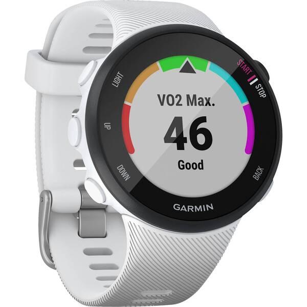 """GARMIN GPS-Laufuhr """"Forerunner 45 S"""" weißes Armband"""