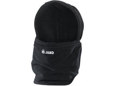 JAKO Neckwarmer mit Mütze Schwarz
