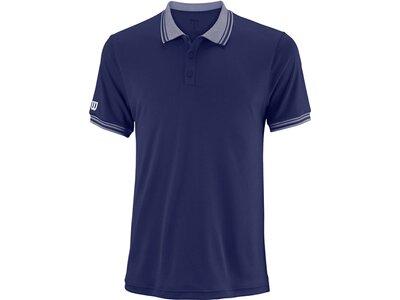 "WILSON Herren Tennisshirt ""Team Polo"" Kurzarm Blau"