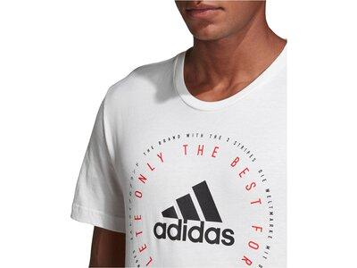 ADIDAS Herren T-Shirt MH Emblem Silber