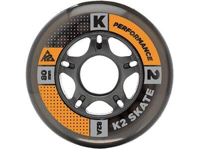 K2 Inliner Rollen Set 84mm / 82A 8er Pack Schwarz