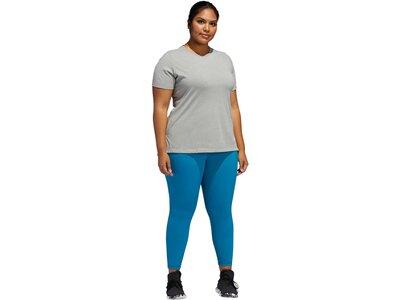 "ADIDAS Damen Fitness-Shirt ""Go To"" - Plus Size Silber"