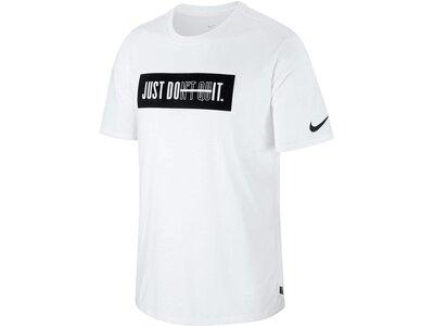 NIKE Herren Trainingsshirt Dry Kurzarm Weiß