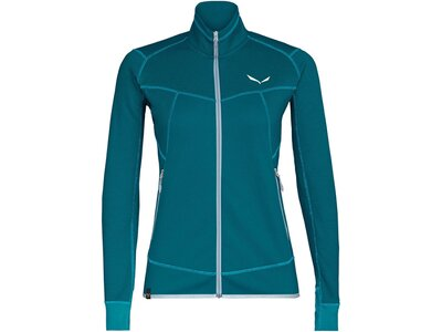 "SALEWA Damen Fleecejacke ""Puez Melange2 Polarlite Womens Full-Zip-Fleece"" Grün"