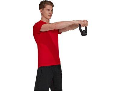 ADIDAS Herren Fitness-Shirt Kurzarm Rot