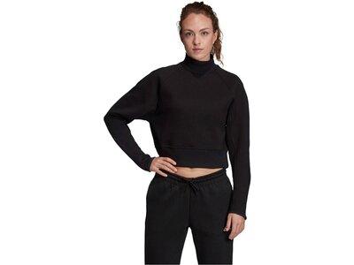 ADIDAS Damen Trainings-Sweatshirt Schwarz