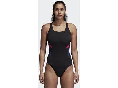 ADIDAS Damen Athletic Tape Badeanzug Schwarz