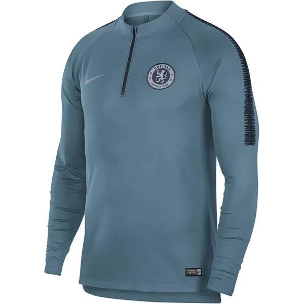 NIKE Herren Fußballshirt Chelsea FC Dri-FIT Squad Drill Langarm