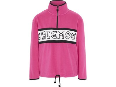 CHIEMSEE Fleece Pullover mit hohem Kragen Pink
