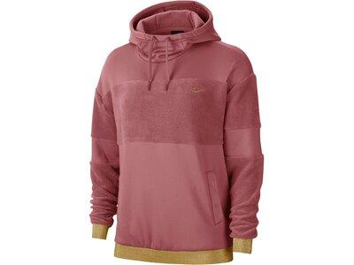 "NIKE Damen Sweatshirt ""Fleece Hoodie"" Rot"