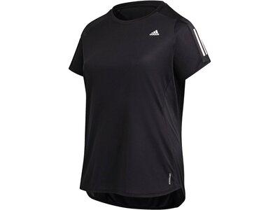 adidas Damen Own the Run T-Shirt – Große Größen Schwarz